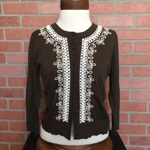 Kate Spade cardigan sweater Embellished (4B49)